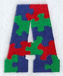 Puzzle Letter A - 3 inch