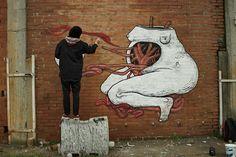 Oltre 50 artisti ridanno colore a un'ex fabbrica a Bologna (Parte 2)