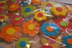 Galletas Flores de colores