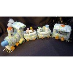 Train Diaper Cake Centerpiece / Baby Shower Gift
