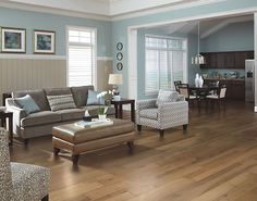 Harvest Hickory Sandbridge hardwood flooring with #Armormax finish. #MadeinAmerica #MohawkAllAmerican