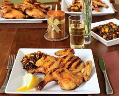 Butterflied Cornish Hens with Apricot Glaze