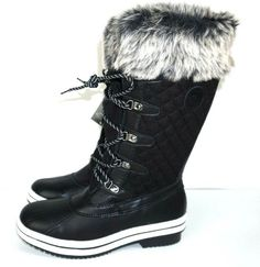 acabc15a22b34 Details about Women s Winter Boots Snow Fur Warm Insulated Waterproof Midi  Calf Ski Shoes Size