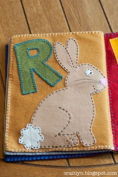 """R is for Rabbit"" quiet book page"