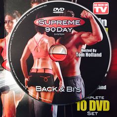 """BACK & BI'S.  **Supreme 90Day System, """"Get Ripped in 90Days!"""" Back And Bis, Workout Calendar, Get Ripped, Dvd Set, Nutrition Guide, See On Tv, Supreme, Boot Camp"""