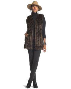 Extravagant Faux-Fur Vest - got it, looks an feels NICE too