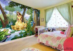 Princess in the garden wallpaper wall mural