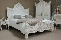 New Louis Philippe french style bed in white