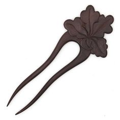 Oak Leaf Design Hair Fork