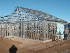Steel Framing - Construção a Seco - YouTube Metal Barn Homes, Metal Building Homes, Pole Barn Homes, Building A House, Steel Framing, Barndominium Floor Plans, Pole Barn House Plans, Roof Trusses, Metal Buildings