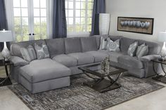Key West Sectional Living Room in Gray - Living Room | Mor Furniture for Less