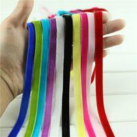 "10 yardas/porción 3/8 ""Brillo cinta de terciopelo de nylon sola cara cinta de…"
