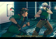I was talking to and popped out the idea of drawing them set in definetely didn't use any freaking reference for anything other than the bg… It's a bad habit.Metal texture is from here. Gray Fox Metal Gear, Metal Gear Solid Quiet, Metal Gear Rex, Snake Metal Gear, Metal Gear Solid Series, Revolver Ocelot, Metal Gear Rising, Gear 2, Snake Art