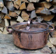 Round pot handmade copper di LaCasadelRame su Etsy