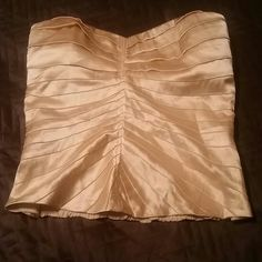 Silky top with tags New never worn , no straps bebe Tops Blouses
