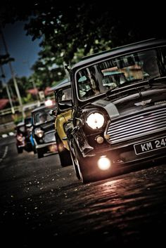Mini Cooper Classics This picture was found by Mini Cooper Clasico, Aston Martin, Classic Mini, Classic Cars, Bmw, Jaguar, Ferrari, Mini Copper, Small Cars