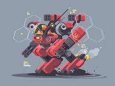 Military exoskeleton by Anton Fritsler (kit8)
