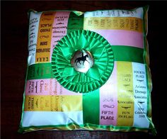Horse Ribbon Pillow