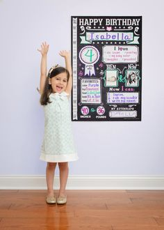 Make your child's birthday extra special and personal with this DIY chalkboard poster.