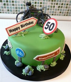 50th cycling Cake