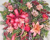 Beautiful XL Spring or Summer Wreath $139.97
