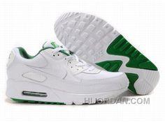 premium selection d77e0 ea194 Nike Air Max 90 Womens White Green Top Deals WD7tZ