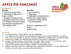 Apple Pie Pancakes - YMCA Farmers Market 2013