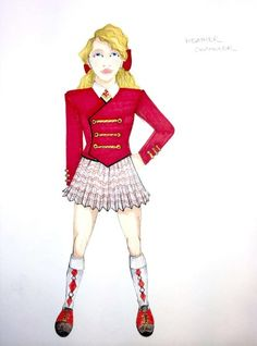Heathers Costume, Heather Duke, Heather Chandler, Costume Design, Shoulder Pads, Short Skirts, That Look, Musicals, Aurora Sleeping Beauty