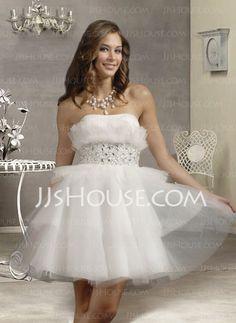 Homecoming Dresses - $129.99 - Elegant A-Line/Princess Sweetheart Short/Mini Satin Tulle Homecoming Dresses With Ruffle Beading (022004396) http://jjshouse.com/A-line-Princess-Sweetheart-Short-Mini-Satin-Tulle-Homecoming-Dresses-With-Ruffle-Beading-022004396-g4396