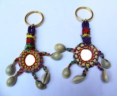 Handmade Keychain Zipper Charm Decorative Cowery Shells  Accessories By 1 Pair #Handmade