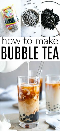 Learn How to Make Bubble Tea with this creamy, delicious, and surprisingly simple Bubble Tea Recipe!<br> Learn How to Make Bubble Tea with this creamy, delicious, and surprisingly simple Bubble Tea Recipe! Yummy Drinks, Healthy Drinks, Yummy Food, Healthy Food, Refreshing Drinks, Tea Drinks, Cocktails, Healthy Drink Recipes, Beverages