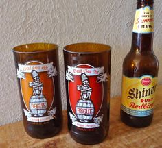 Dead Guy Ale Recycled Beer Bottle Glasses by ConversationGlass, $30.00
