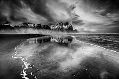 Moods of the Vestrahorn - A morning at the Vestrahorn, Stokksnes, Iceland. Moody skies and frost shattered peaks as a backdrop Fine Art Photography, Amazing Photography, Photography Contests, Free Photography, Clear Winter, Photo Competition, Winter Storm, Ansel Adams, Daily Photo