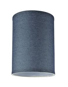 Aspen Creative Washing Blue, Transitional Hardback Drum (Cylinder) Shaped Spider Construction Lamp Shade, Wide x x