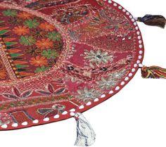 Round Floor Pillow floor Cushion floor pouf Decorative Pillows pouf ottoman art…