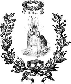 Bunny Wreath Printable Transfer