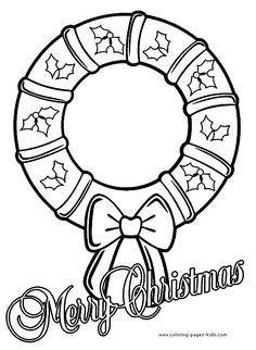 Christmas Coloring Pages Free - Bing Images