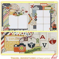 PaisleysandPolkaDots.com MAY 2013 predesigned Scrapbook Layout Kit with instructions featured at www.scrapclubs.com