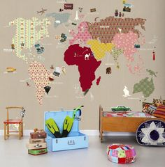 Wall decor for kids room kids room wall decor interior design wall decor for kids MWPQNDR - Home Decor Ideas Wallpaper Co, World Wallpaper, Photo Wallpaper, Wallpaper Direct, Globe Wallpaper, Wallpaper Online, Bedroom Wallpaper, Room Wall Decor, Bedroom Decor