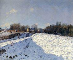 Alfred Sisley - Effet de neige à Argenteuil, 1874.