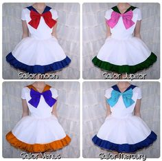 Sailor Moon Pinafore Bow Apron Costume Skirt Adult by mtcoffinz, $95.00