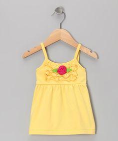 Yellow Rosette Swing Top - Toddler & Girls