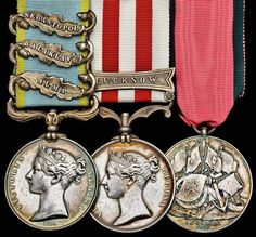 Crimean War and Indian Mutiny campaign medals