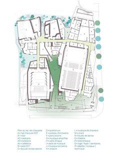 AECCafe.com - ArchShowcase - conservatoire d'aubervilliers in france by FCLP architecte