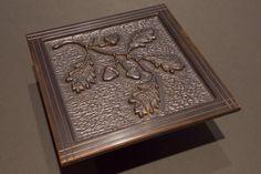 solid copper oak and acorn tile