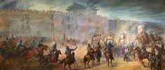 Genghis Khan's Army Sieges Xi Xia Kingdom
