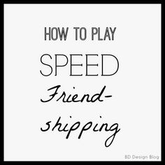We had such a fun night last night at our activity with the ladies from church. Once a month, we all get together one evening and do something fun together. Each month has a different theme and activity. Last night we played SPEED FRIEND-SHIPPING and it was a blast!! The concept is the same as …