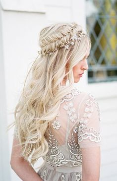 Gorgeous Braided Bridal Hair Inspiration (Inspired By This) Bridal Hair And Makeup, Bridal Beauty, Blonde Bridal Hair, Blonde Hair, Loose Hairstyles, Wedding Hairstyles, Goddess Hairstyles, Bridal Hair Inspiration, Bridal Braids