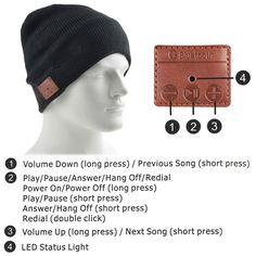 Warm Beanie Hat Wireless Bluetooth Smart Cap