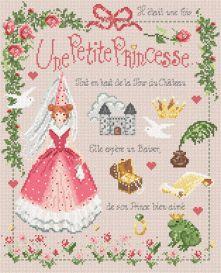 """Madame la fée -""""Petite Princesse""""  154 x 189 points"""